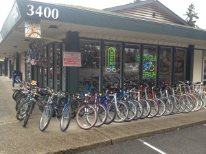 1088ddc3a05 At any one time we typically have 50-65 USED bikes all serviced and ready  to roll. Each USED bike gets a full service tune up during which we will  adjust ...